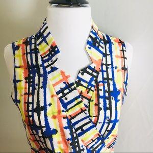 VINCE CAMUTO Multi Colored Shealth Dress Size 2